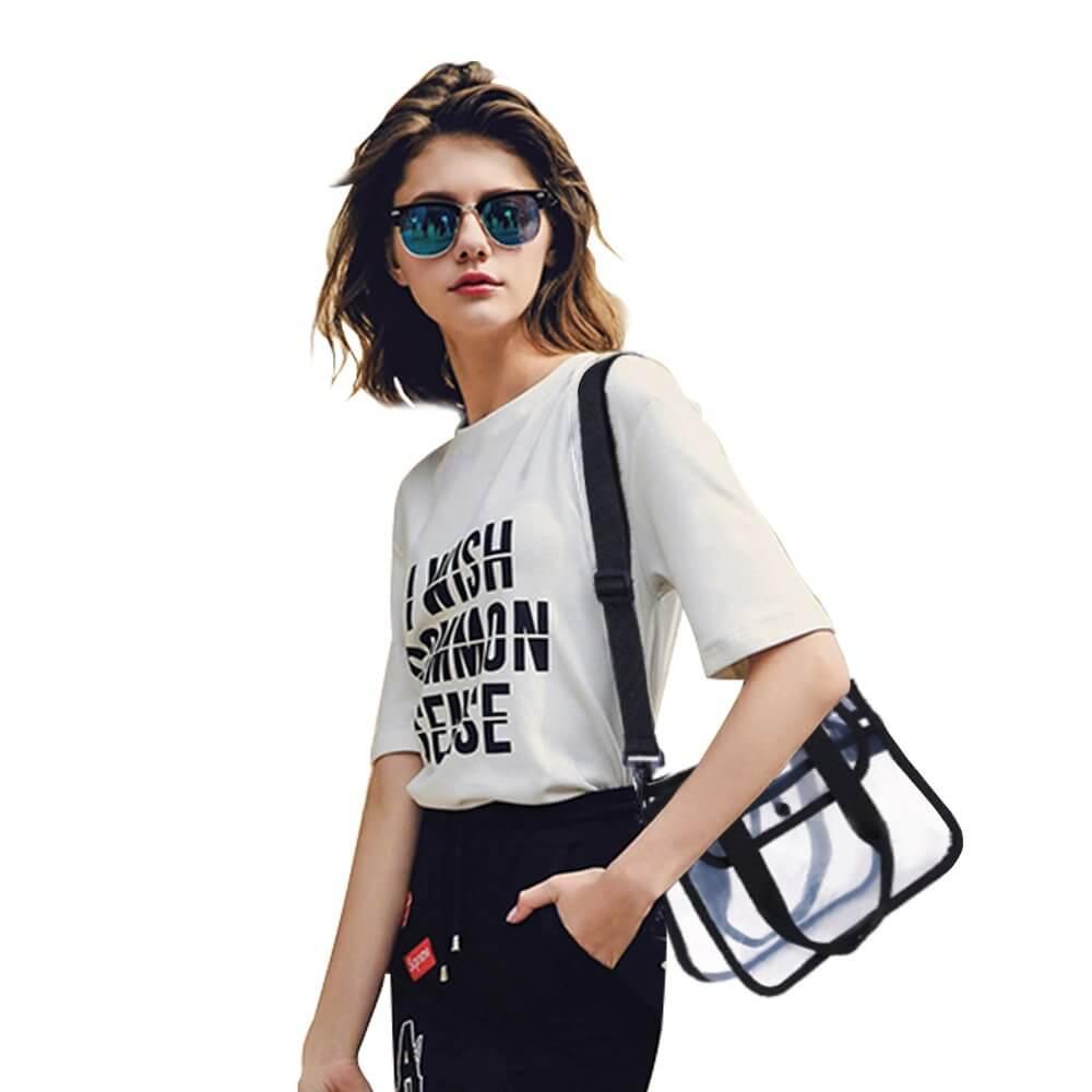 PVC Bag Clear Cosmetic Shopping Bags Transparent Handbag